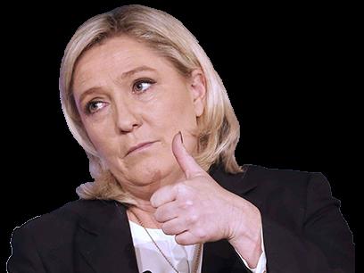 Sticker politic marine le pen poce blo pouce bleu like front national fn politique