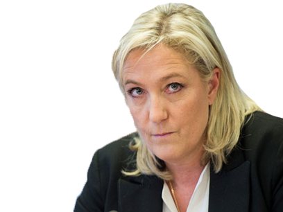 Sticker politic marine le pen vengeresse enervee enerve vener colere front national fn politique