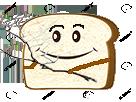 Sticker risitas tranche de pain branche