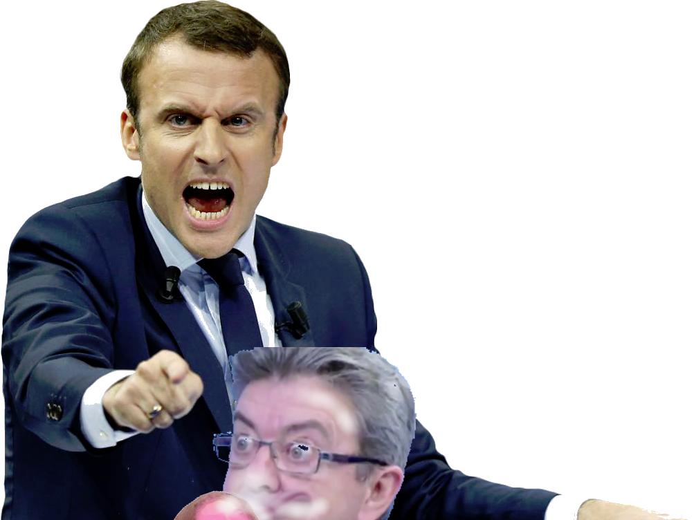 Sticker politic melenchon suce macron