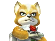 Sticker other starfox fox mc cloud adventures gamecube gc pose bras croises defi fier attend patiente hop surveille renard furry