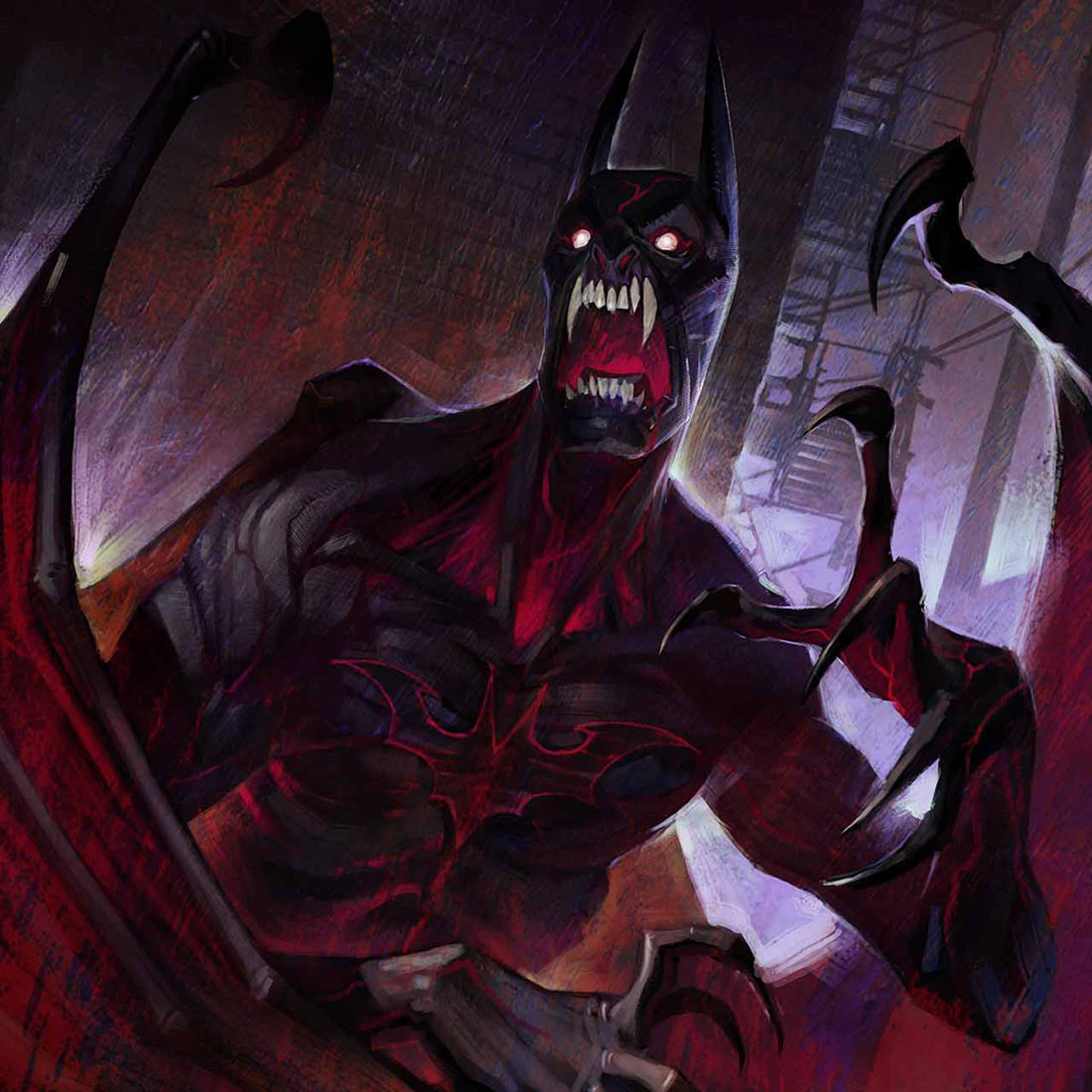Sticker other nightmare batman cauchemar monstre creature demon de la nuit