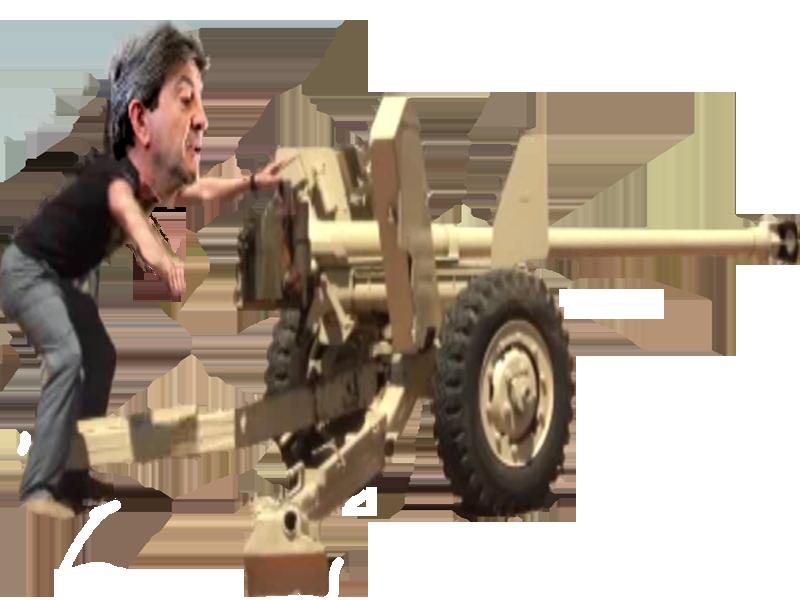 Sticker politic melenchon tir canon