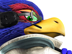Sticker other starfox falco zero wii u pose bras croises defi fier furry zoom