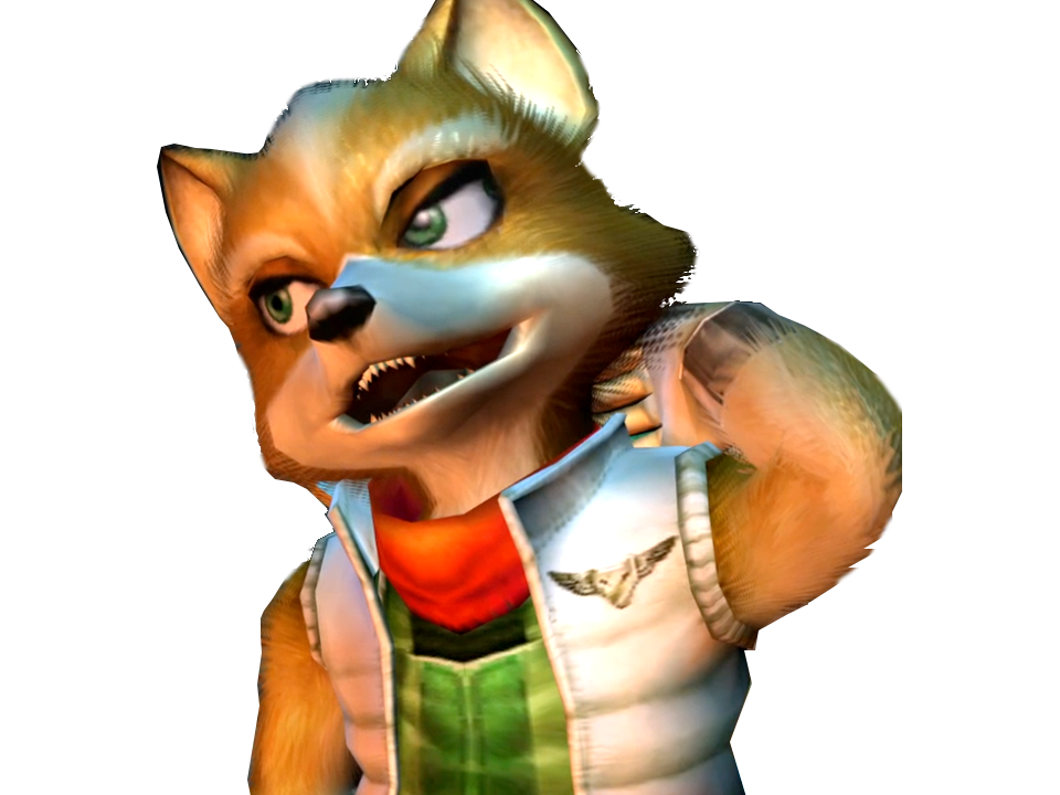 Sticker other starfox fox mc cloud adventures gamecube gc bras embarasse gene malaise timide renard furry