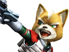 Sticker risitas starfox fox mc cloud assault gamecube gc attaque agressif enerve vener nrv pistolet laser flingue renard furry zoom