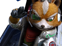 Sticker other starfox fox mc cloud zero wii u salut okay pas de probleme ras bien main vaisseau pilote renard furry zoom