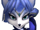 Sticker other starfox krystal assault gamecube gc amuse sourire complice yeux doux sexy main bras fiere defier renard furry zoom