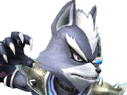 Sticker other starfox wolf o donnell assault super smash bros brawl melee ssbb ssbm fier defi rival moqueur sourire combat attaque loup furry viseur detecteur zoom