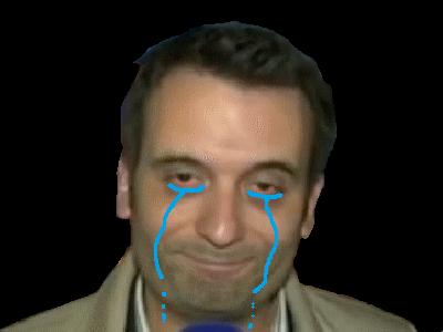 Sticker politic phillipot larmes pleure