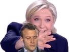 Sticker politic soumis macron lepen pls pd cuck