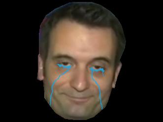 Sticker other philippot debat le pen bfm presidentielles cernes larmes triste