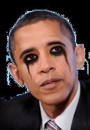 Sticker barack obama president usa politic maquillage emo
