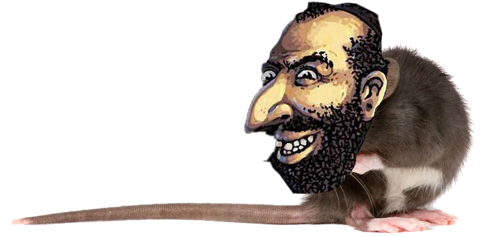Sticker politic juif rat jew