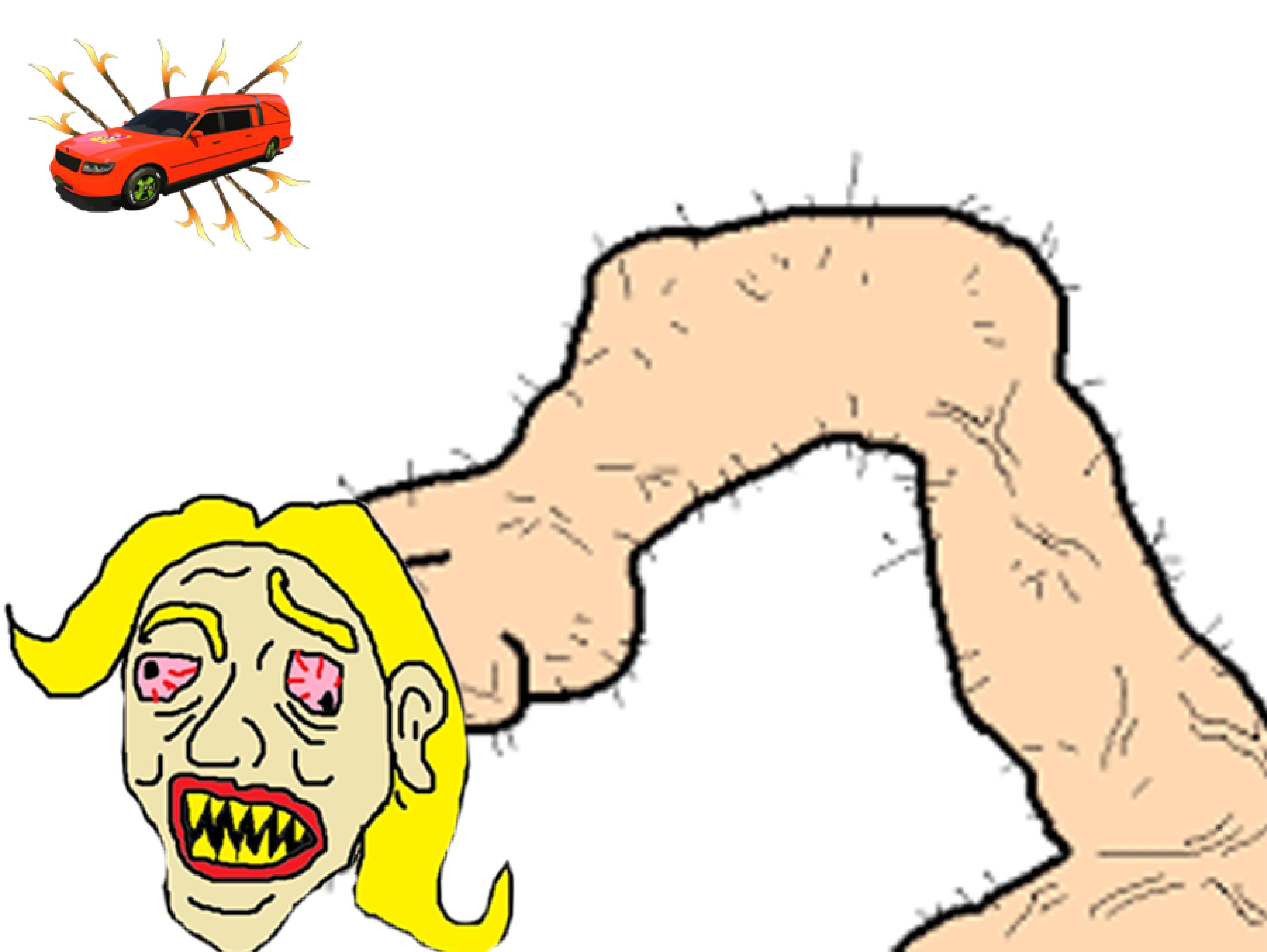 Sticker politic penis le pen corbillard debile petit bras