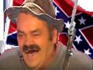 Sticker confedere sudiste risitas fusil drapeau