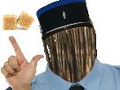 Sticker brindille faible risitas jesus petit bras deux sucre gendarme police
