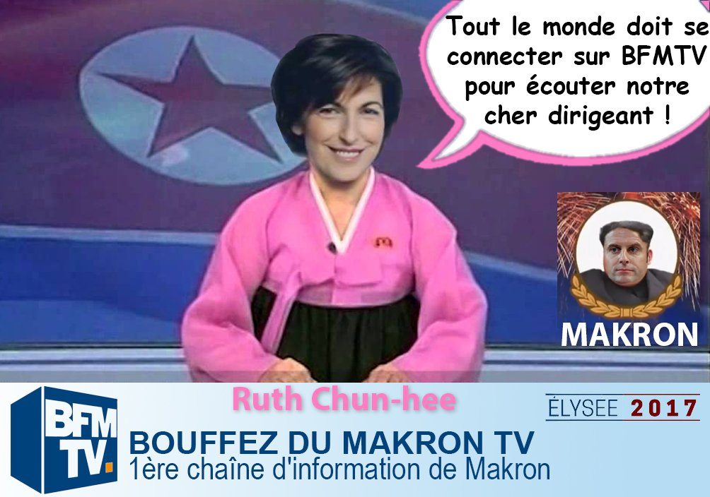 Sticker politic ruth elkrief bfmacron makron macrontv coree
