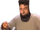 Sticker barbe jesus undercut mix risitas