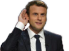 Sticker politic macron entend sourd repete petits bras