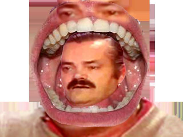 Sticker issou eussou risitas monstre bouche dent mange