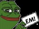 Sticker politic en marche macron em vote bulletin urne pepe frog politique election enmarche