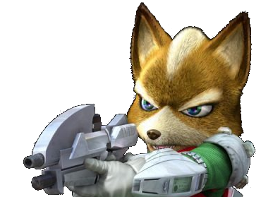 Sticker other starfox fox mc cloud assault gamecube gc attaque aggressif enerve vener nrv pistolet laser flingue suicidez le renard furry