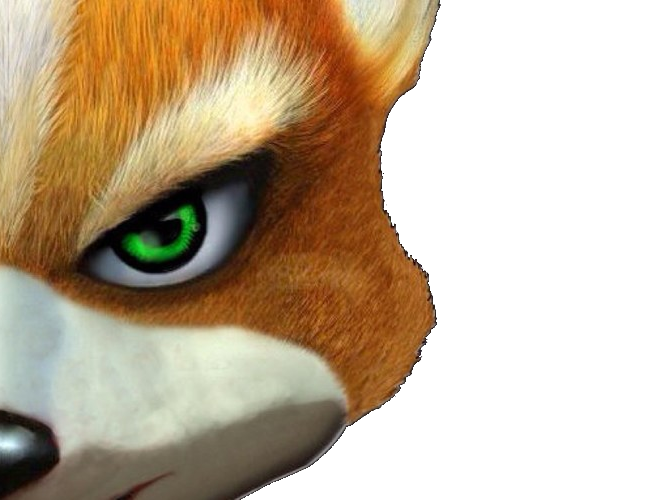 Sticker other starfox fox mc cloud adventures gamecube gc penche regarde serieux renard furry