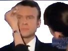 Sticker politic macron sueur maquilleuse eponge