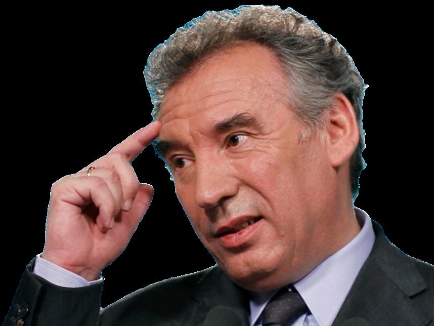 Sticker politic francois bayrou doigt sur la tempe