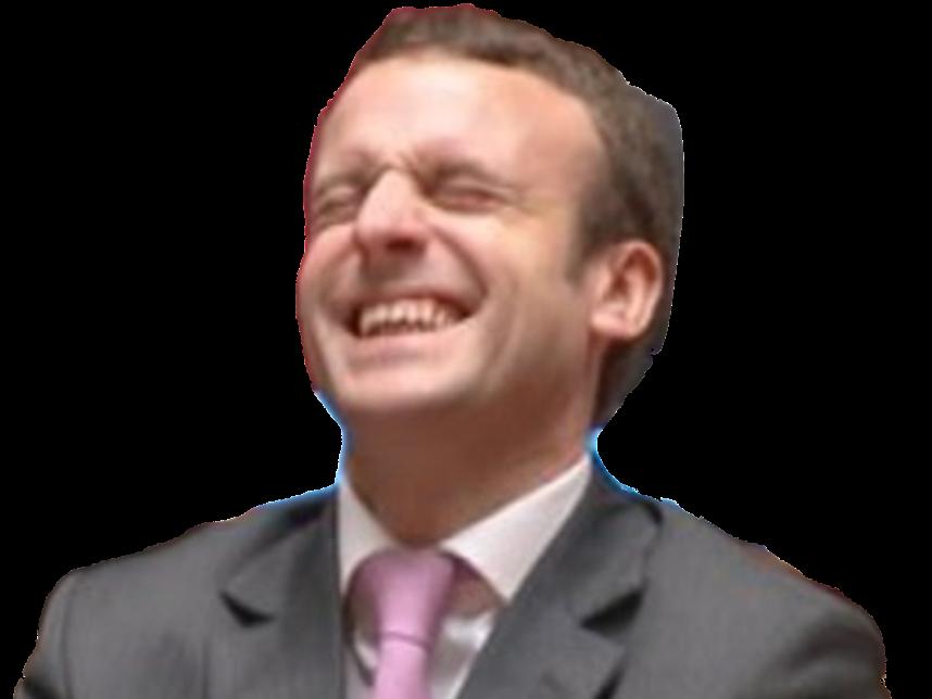Sticker macron rire emmanuel joyeux allegresse joie president