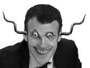 Sticker politic macron diabolique peur horrible