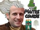 Sticker politic macron maitre course