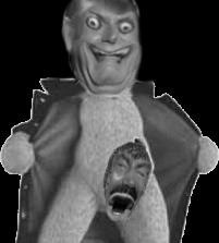Sticker risitas creepy nu horreur peur horrible jesus mix saucisse
