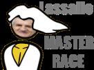 Sticker politic master race lassalle politique