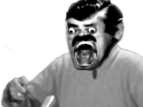 Sticker jesustas creepy risitas jesus peur horrible horreur mix