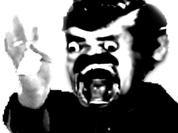 Sticker papier creepy peur horreur jesus risitas mix horrible