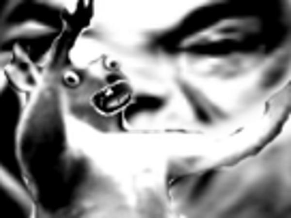 Sticker kangourou creepy mix peur horrible horreur jesus risitas