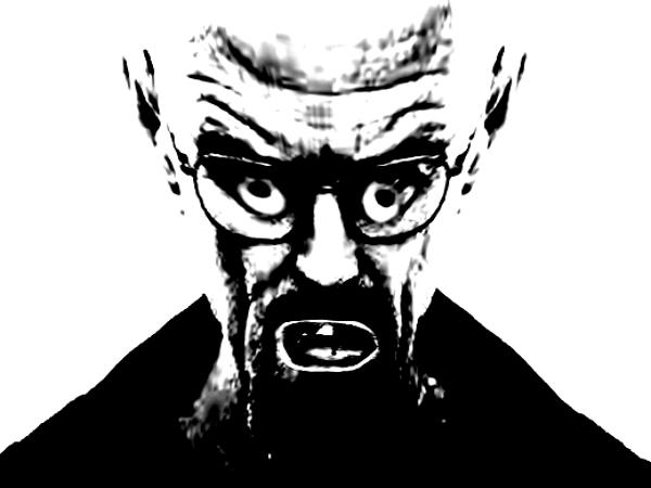 Sticker risitas heisenberg breaking bad creepy deform peur horrible horreur mix