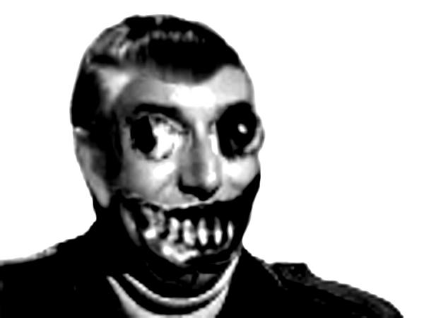 Sticker creepy jesus risitas peur horreur horrible dent