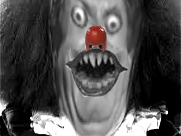 Sticker creepy clown peur horrible horreur mix jesus risitas