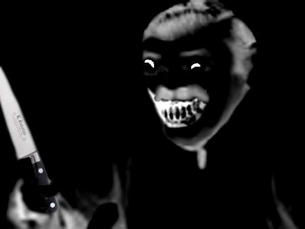 Sticker creepy risitas mix couteau peur horrible horreur