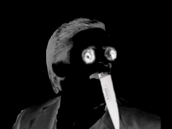 Sticker assassin creepy dent jesus risitas mix peur horrible horreur