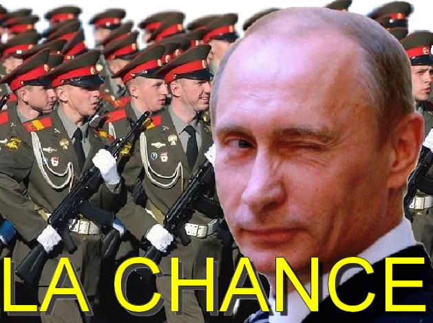 Sticker politic poutine la chance armee russe voutinisme plad