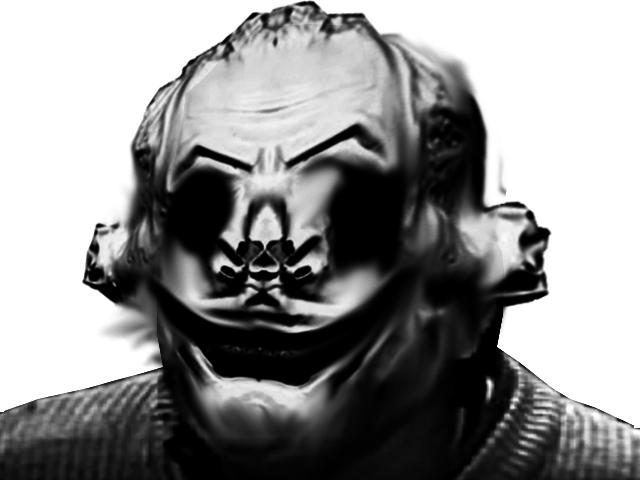 Sticker risitas sathan satan horreur rituel kenny malin belzebuth stupeflip 894 quintero jesus nouvelle france acide brulure sang feu enfer noir et blanc