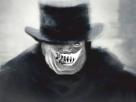 Sticker risitas creepy jesus chapeau peur