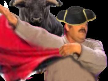 Sticker risitas torero toreador taureau chapeau rouge drap risitoreador