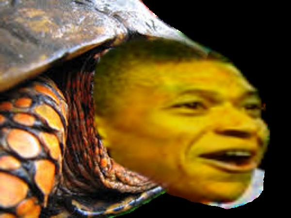 Sticker risitas mbappe tortue as monaco animal