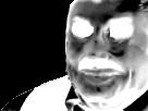 Sticker creepy enfer noir et blanc jesustas risitas jesus mix peur horrible horreur