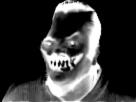 Sticker creepy risitas deform noir et blanc enfer peur horrible horreur